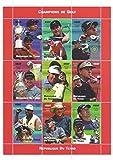 Campioni di foglio di francobolli per collezionisti golf Tiger Woods, Nick Faldo, Sergio Garcia, Greg Norman e altri - 9 francobolli / 2002 / Ciad - Stampbank - amazon.it