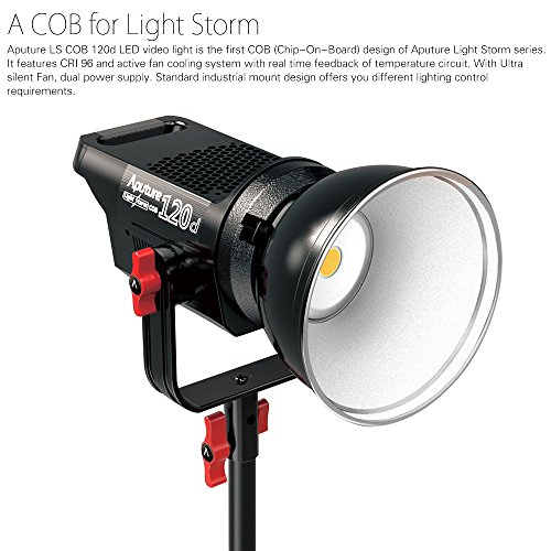 Top Aputure LS COB 120d LED Video Light 6000K Studio Continuous Lighting TLCI/CRI 96+ 18dB Noise Ultra-Silence and Aputure Light Dome Parabolic Light-Reflecting Softbox with Diffuser Both Bowens Mount on Line