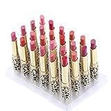 Abody  24Pcs leopardo stampa rossetti idratanti labbro balsami impermeabile e di lunga durata 12 colori