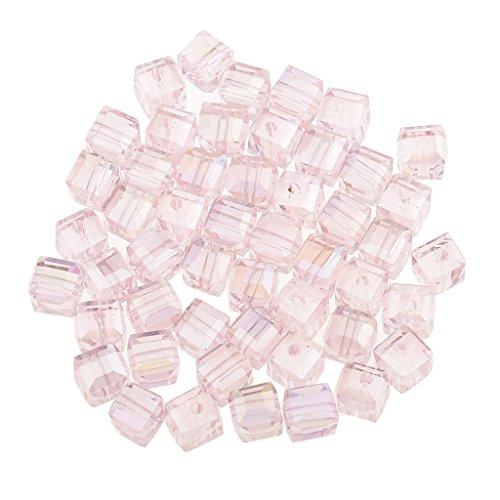 erlen Würfelperlen Bastelperlen Motivperlen zum fädeln Perlen Beads - Rosa ()