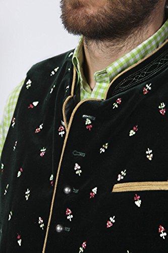 Stockerpoint - Herren Trachten Weste in verschiedenen Farbtönen, Calzado, Größe:52, Farbe:Tanne - 5