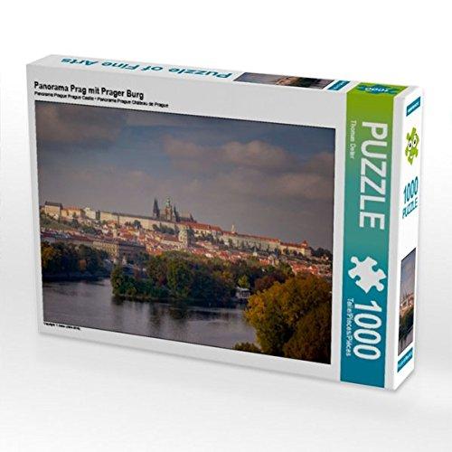Panorama Prag mit Prager Burg 1000 Teile Puzzle Quer