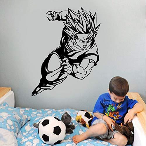 Kuletieas Goku Super Saiyan Vinyl Aufkleber DB Wand Auto Aufkleber Dekoration Für Teenager Schlafzimmer Wohnheim Wasserdichte 57 * 74 cm