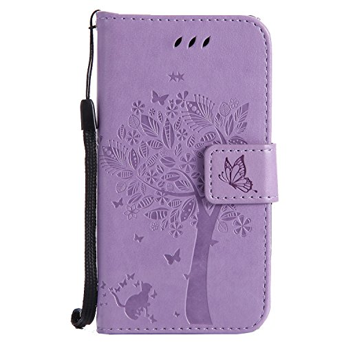 Nancen Compatible with Handyhülle Nokia Lumia 630/635 (4,5 Zoll) Flip Schutzhülle Zubehör Lederhülle mit Silikon Back Cover PU Leder Handytasche im Bookstyle Stand Funktion