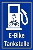 Melis Folienwerkstatt Schild - E-Bike Tankstelle - 45x30cm   Bohrlöcher   3mm Aluverbund – S00050-076-F -20 Varianten