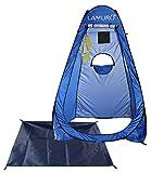 LAMURO Duschzelt/Toilettenzelt; Camping/Outdoorzelt – wasserfest; tragbar