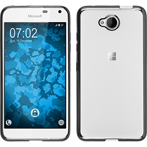 PhoneNatic Case kompatibel mit Microsoft Lumia 650 - grau Silikon Hülle Slim Fit Cover