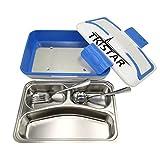 Boite à lunch électrique chauffante TKSTAR Portable Boîte à repasRécipient de chauffage de repas (Bleu 2)