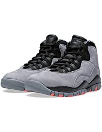 Nike Air Jordan Retro 10, Chaussures de Sport-Basketball Homme, Gris
