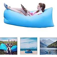 Yithings - Sofá Hinchable con Bolsa de Transporte y sofá Hinchable, Impermeable, para Interior y Exterior, Senderismo, Camping, Playa, Parque Trasero, Azul