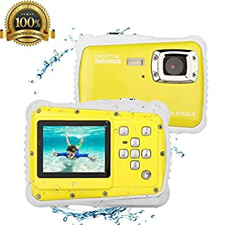DIDseth Kids Camera Digital Children Camcorders Waterproof Camera for Kids Underwater Action Camera 5 Mega Pixels (Yellow)