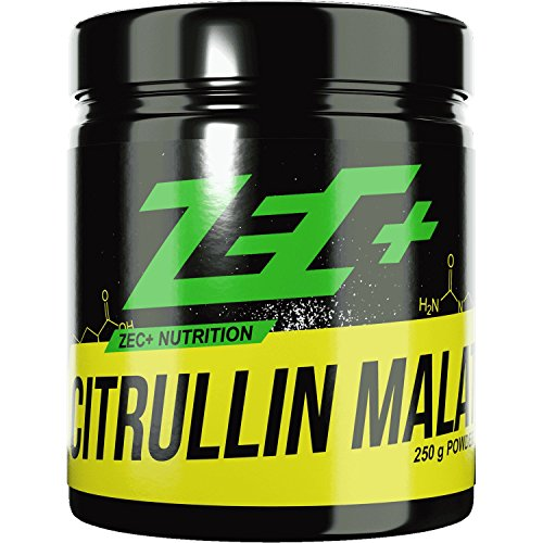 #ZEC+ Pulver L-CITRULLIN-MALAT | PRE WORKOUT Aminosäure | verbesserte Durchblutung der Muskulatur | N.O.-Vorstufe (Nitric Oxide/Stickstoffmonoxid) | steigert Pump und Leistungsfähigkeit | höchste Qualität | Made in Germany | 250g#
