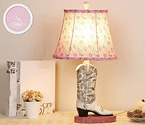Resin Creative Personality Women'S Shoes Table Lamps Cartoon Children'S Bedroom