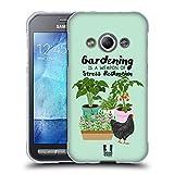 Head Case Designs Garten Huhn Froehliche Garten Arbeit Soft Gel Hülle für Samsung Galaxy Xcover 3