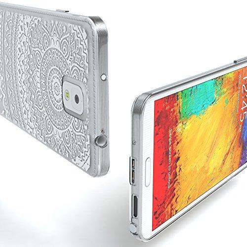 Samsung Galaxy Note 3 Hülle - EAZY CASE Ultra Slim Cover TPU Handyhülle Matt - dünne Schutzhülle aus Silikon in Transparent / Weiß Henna Weiß