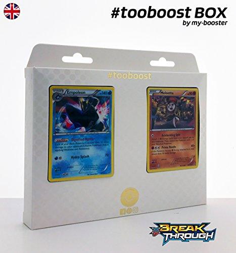 ESAM Box #tooboost EMPOLEON (Impoleon) und MELOETTA - XY08 - 10 English Karten Pokemon