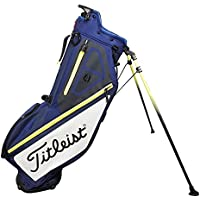Titleist Players 4 Golf Standbag - Ultra leicht - Double to Single Gurtsystem (Navy/Weiss/Gelb)