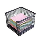 OUNONA Zettelbox Office 10x10x8m Schreibtisch Büro (Schwarz)