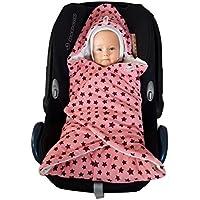 Baby Einschlagdecke Maxi cosi, Babyschale, Fußsack für Kinderwagen - für Übergangszeit, Winter aus Minky/Baumwolle SWADDYL