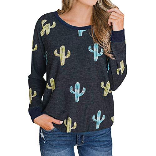 (TianWlio Damen Hoodie Frauen Langarm Hoodie Mode Langarm Lässige Herbst Printed Long Sleeve Sweatshirt Bluse T-Shirt)