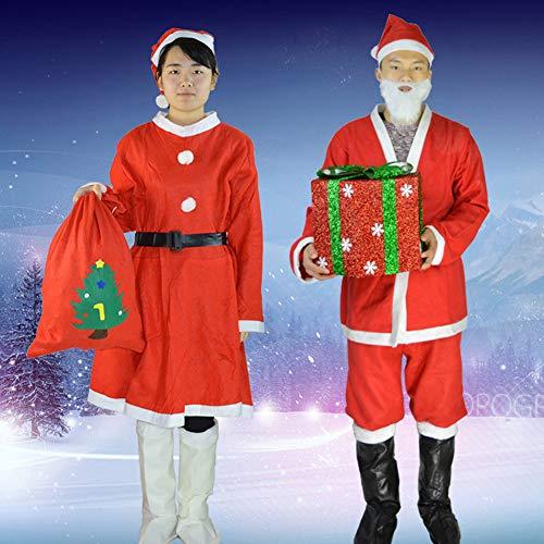 Klassische Kostüm Männer - MoMo Honey Weihnachten Cosplay Kostüm, Klassische Erwachsene Mann / Frau Weihnachtsmann Anzug Für Weihnachtsfeier Show Aktivitäten Mann