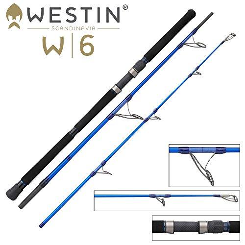 Westin W6 Popping 240cm 20-100g - Spinnrute zum Spinnangeln im Meer, Popperrute zum Angeln mit Poppern Meeresrute zum Meeresangeln
