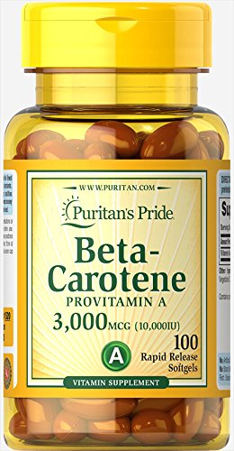 Provitamin A Beta Carotene 3000 mcg / 10000 IU 100 pearls
