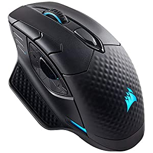 Corsair Dark Core RGB SE Wireless/Wired Gaming Mouse with Qi Wireless Charging (16000 DPI Optical Sensor, 9 Programmable Side Buttons, RGB Multi-Colour Backlighting, Xbox One Compatible) - Black