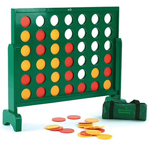 Garden Games Jumbo 4 in a Row Wooden Game - 75 Centimetres Tall - Giant Game for the Whole Family