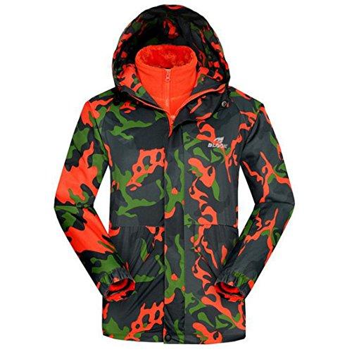 Vertvie-Femme-3-en-1-Jacket-Veste-Coupe-Vent-Impermable-Camouflage-Softshell--Capuche-Doubl-Polaire-pour-Activit-Outdoor-Camping-Randonne