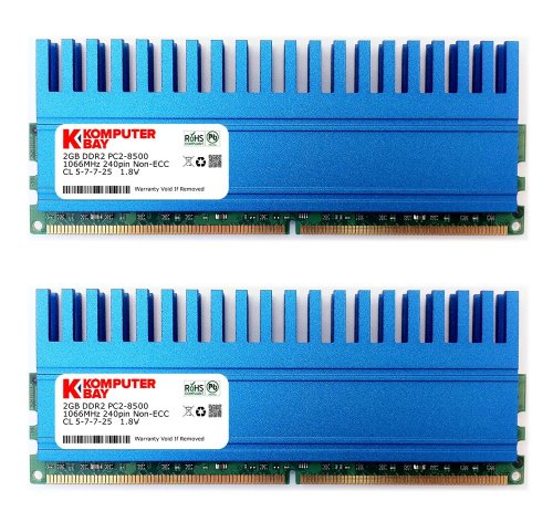 518acTGA8PL - BEST BUY #1 Komputerbay 4GB (2x 2GB) 240 Pin 1066MHz PC2-8500 DDR2 DIMM Memory Module with Crown Series Heatspreaders Reviews and price compare uk