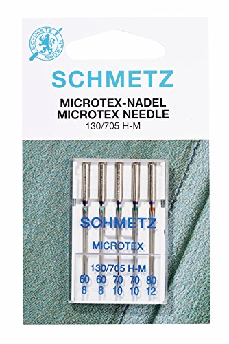 Schmetz MICROTEX Needle Range (Packs of 5) - Various Sizes (.