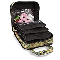 Sewing Accessories Case, Knitting and Craft Organiser Storage Bag in Paris Print by Roo Beauty