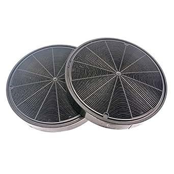 Kit 2 filtres charbon (diam 19,8cm) ah4066 ak8935 ak8953cce16x hv8936 dhe1136a dht386 dht496 dht498 hv8935 hv8936 falcon plus falhdc110bc fhdse900wh/n hdc110bb m06099299 hotte de dietrich dht496xp1