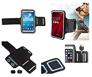 DFV mobile Armbandtasche Sport Armband Berufsausrüstung Wasserabweisende aus Neopren Premium für=> JIAKE jk2 > Schwarz