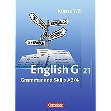 English G 21 - Ausgabe A: Band 3/4: 7./8. Schuljahr - Grammar and Skills