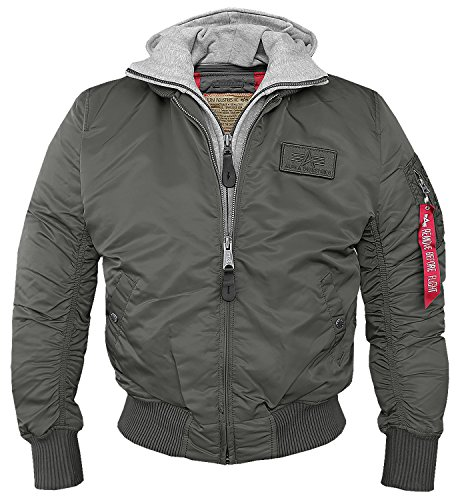 Alpha MA-1 D-Tec Fliegerjacke rep.-grey - XL