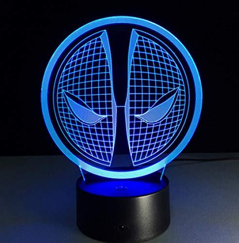 Joplc Die maske 3d nachtlicht stimmung lampe led usb dekorative tischlampe innen dekoration