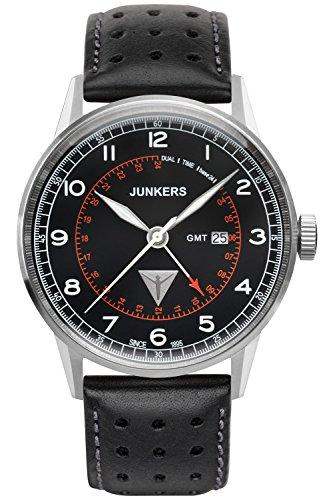 Junkers - 69462 - Montre Homme - Quartz - Analogique - Bracelet Cuir Noir