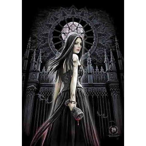 Anne Stokes–Gothic Siren musica posterflaggen Bandiera–dimensioni 75x 110cm