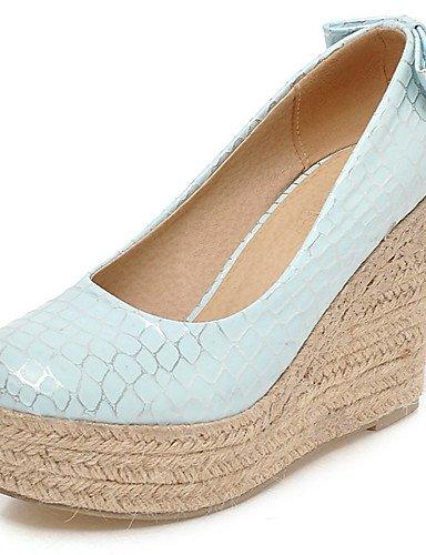 WSS 2016 Chaussures Femme-Bureau & Travail / Habillé-Bleu / Rose / Blanc-Talon Compensé-Compensées / Talons / A Plateau / Bout Arrondi-Talons- pink-us8 / eu39 / uk6 / cn39