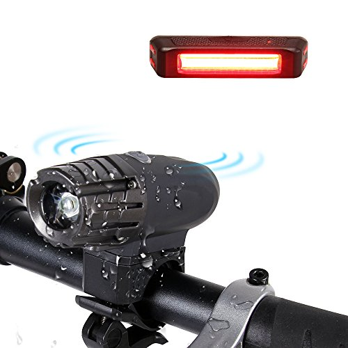 amarey Wiederaufladbare LED Fahrradbeleutung,Wasse...
