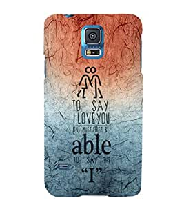 EPICCASE I love you Mobile Back Case Cover For Samsung Galaxy S5 (Designer Case)