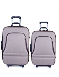 Bags Bazar Polyster Light Brown Softsided Suitcase Set Of 2 (20x14x7 And 24x16x8)