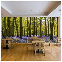azutura Purple Flowers Wall Mural Forest Trees Photo Wallpaper Living Room Bedroom Decor available in 8 Sizes Gigantic Digital