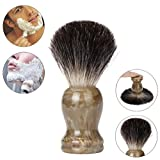 Amcool Rasierpinsel Reise,Herren Rasierpinsel Dachshaar Set Rasieren Bart Bürste Shaving Brush (etwa 106mm, Khaki)