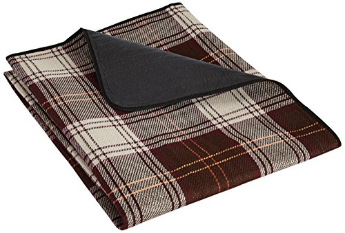 relaxdays-waterproof-picnic-blanket-travel-mat-plus-carrying-handle-brown-white-plaid-large