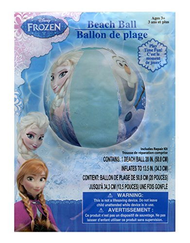 Disney Frozen Elsa, Anna and Olaf Inflatable Beach Ball - 20 inch by Disney (Disney Frozen Beach-ball)