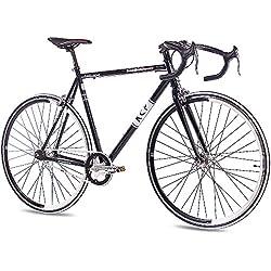 "28""para bicicleta de carretera fixie KCP FG-1ROAD Fixed Gear velocidad única negro 56cm (28cm)"