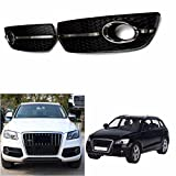 RISHIL WORLD Fog Light Cover S Line Grill Black ABS Plastic and Chrome for VW Audi Q5 2009-2011